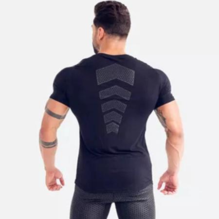 Compression Quick dry T-shirt Men Running Sport Skinny Short