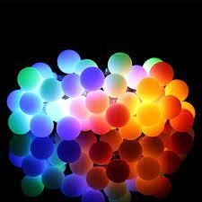 White Ball Solar Lamp 10M Power LED String Fairy Lights Solar Garlands Garden Christmas Party Decor For Outdoor 50 LEDS Small