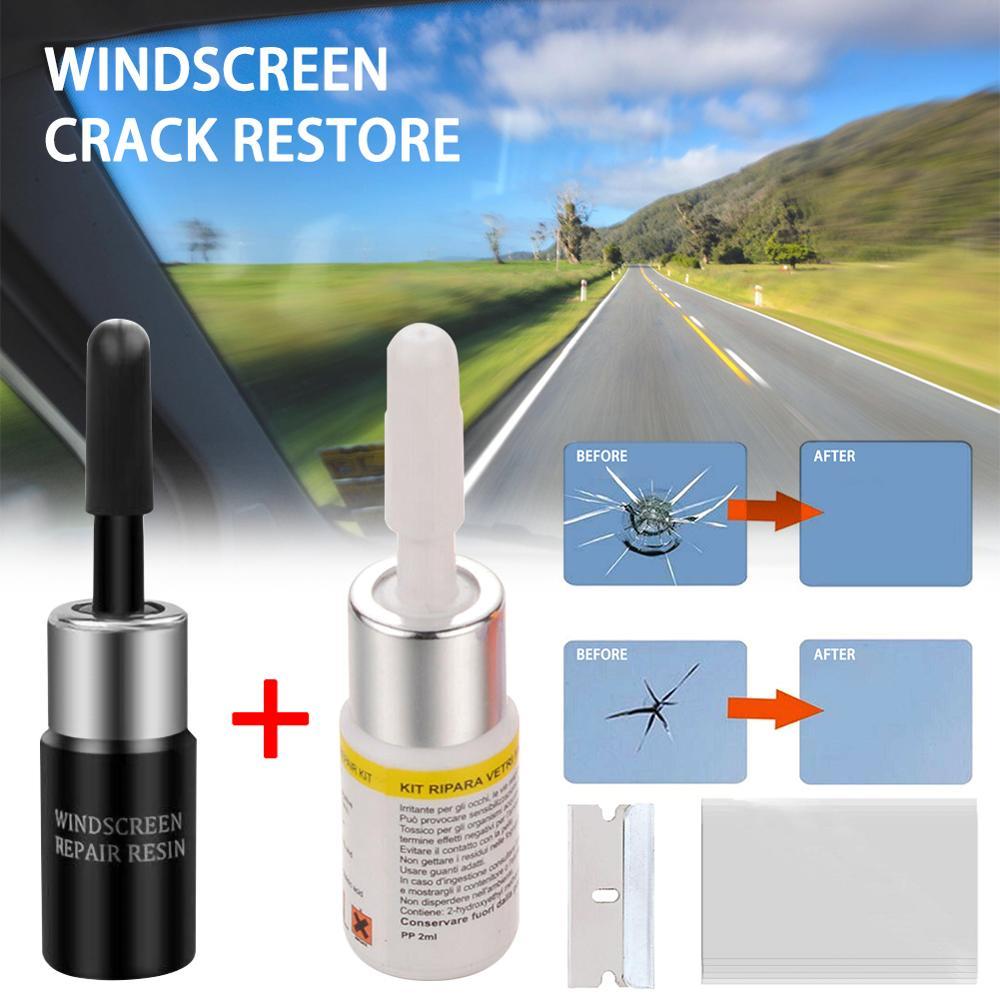 Car Window Repair Tool DIY Car Windshield Repair Tools Window Glass Curing Glue Auto Glass Scratch Crack Restore Kit