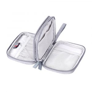 Travel Organizer Bag Pouch,Mini Electronic Accessories Storage Bag for Power Bank, Phone,USB Cables and Other Phone Kits
